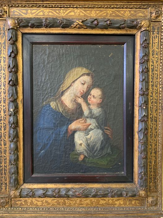 Virgin and child (1) - oil painting on canvas - 18th century