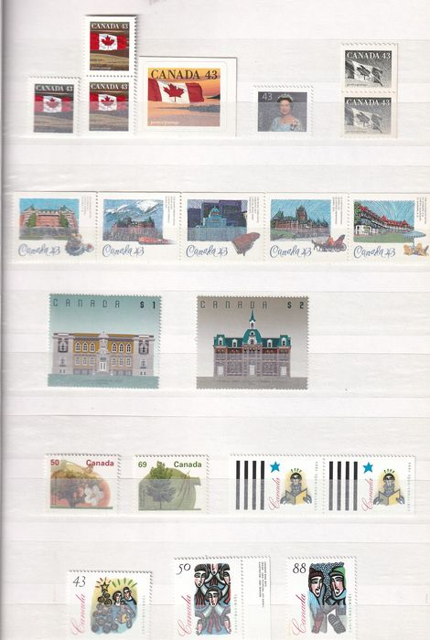 Canada 1993/1997 - In a stock book from the 1990s - Michel