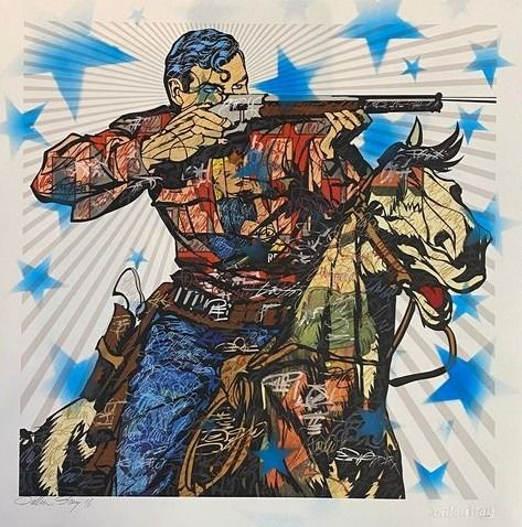 Dillon Boy - Western Graffiti / Superman Cowboy Art