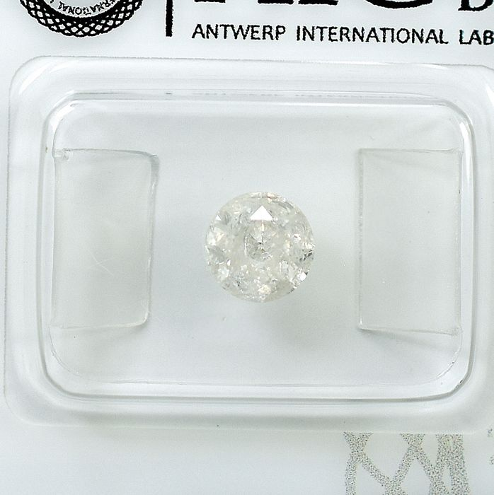 Diamant - 0.96 ct - Brillant - I - I2 - NO RESERVE PRICE