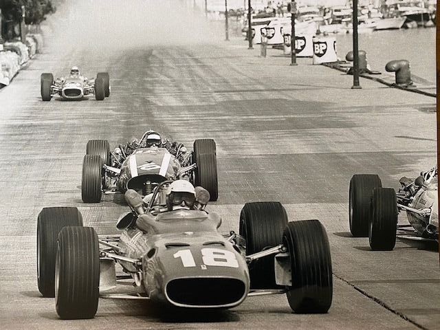 photograph - Rare 1967 Monaco grand Prix Bandini in Ferrari last race - Ferrari - After 2000