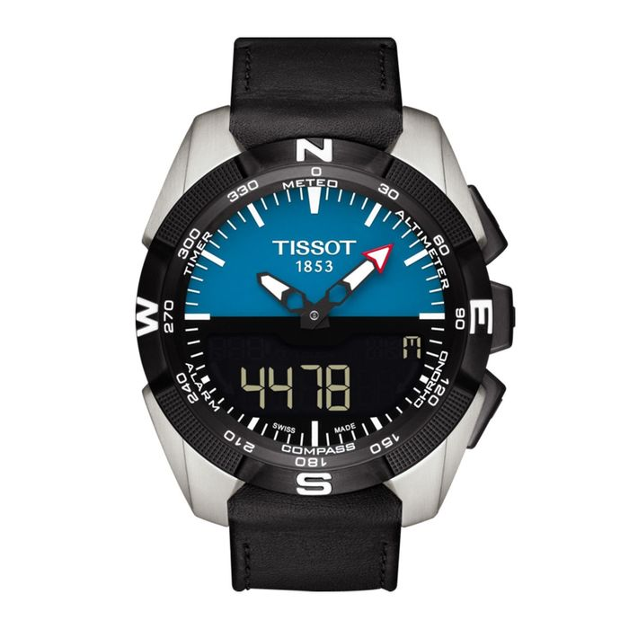 Tissot - T-Touch Expert Solar Chronograph Titanium Blue & Black Dial Swiss Made - T0914204604100 - Heren - Brand New