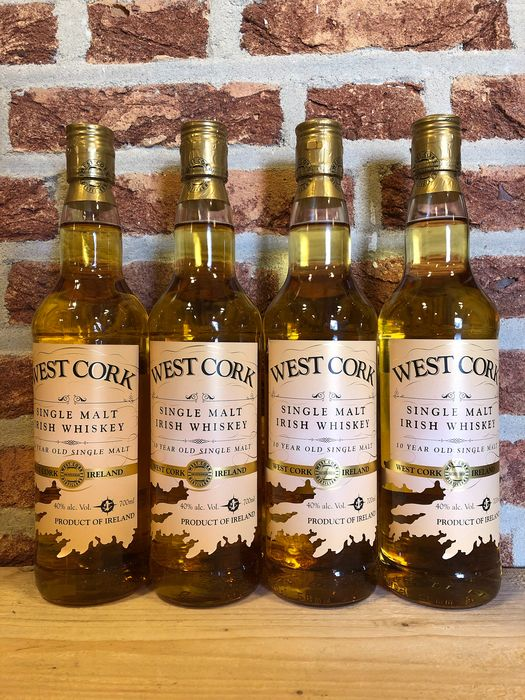 Westcork 10 years old - 700ml - 4 bouteilles