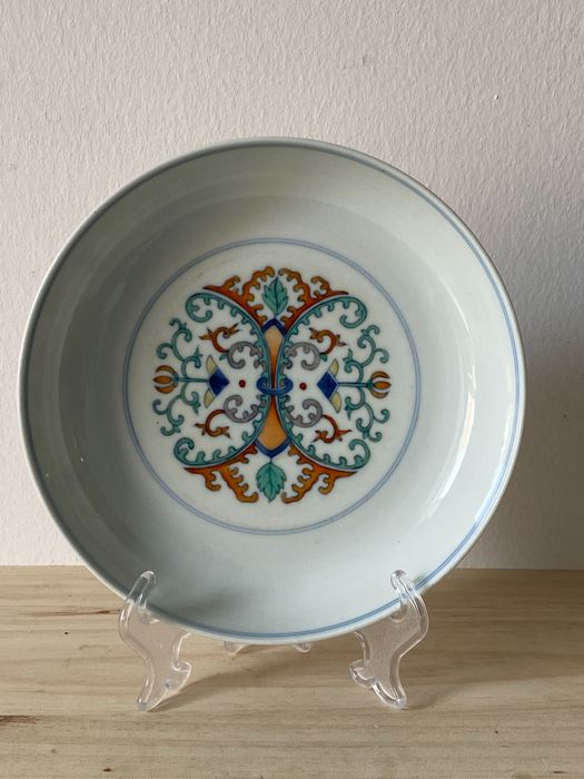 Dish - Doucai - Porcelain - China - 21st century