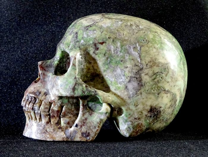 Crystal Carved Skull Pietersita - 101×75×63 mm - 670 g