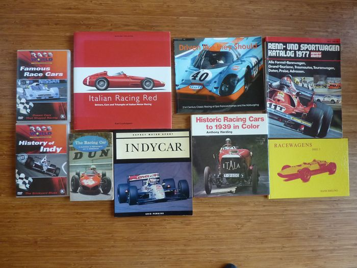 Bücher - Racing Cars - 7 rare books 1962-2008 - Ferrari, Lotus, Maserati, Porsche