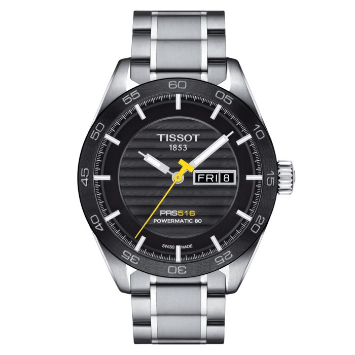 Tissot - PRS 516 Powermatic 80 Automatic with Steel Bracelet Swiss Made - T1004301105100 - Herren - Brand New