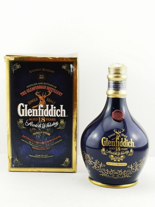 Glenfiddich 18 years old Ancient Reserve - Original bottling - b. Années 1990 - 700ml