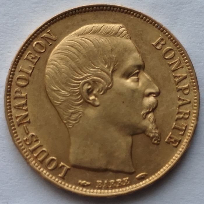 20 Francs 1852-A Louis-Napoléon Bonaparte - Or