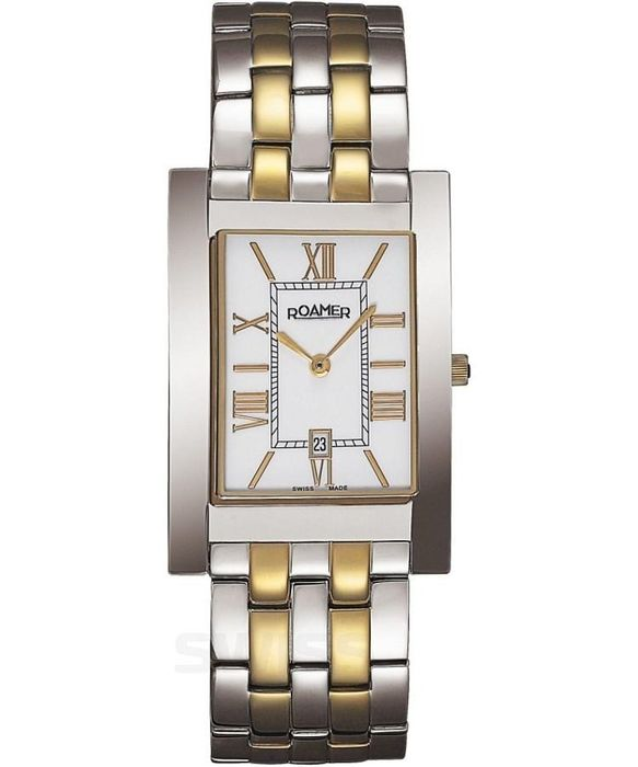 Roamer - Classic Vanguard Rectangular Date IP Gold - 511973 47 23 50 - Men - Brand New