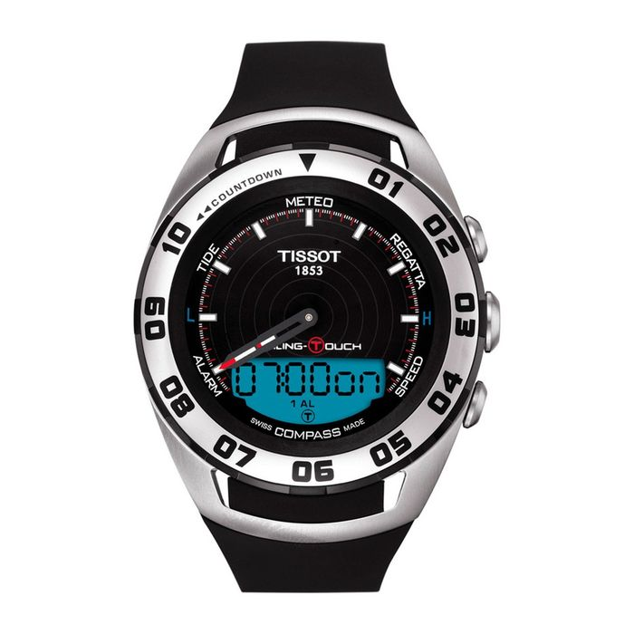 Tissot - Sailing Touch Chronograph Black Dial Silicone Strap Sapphire Crystal Swiss Made - T0564202705101 - Men - Brand New