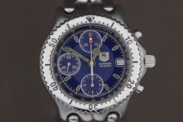 TAG Heuer - NO RESERVE PRICE-Automatic-Chronograph-Date-Blue- - CG 2111-R0 - Men - 1990-1999