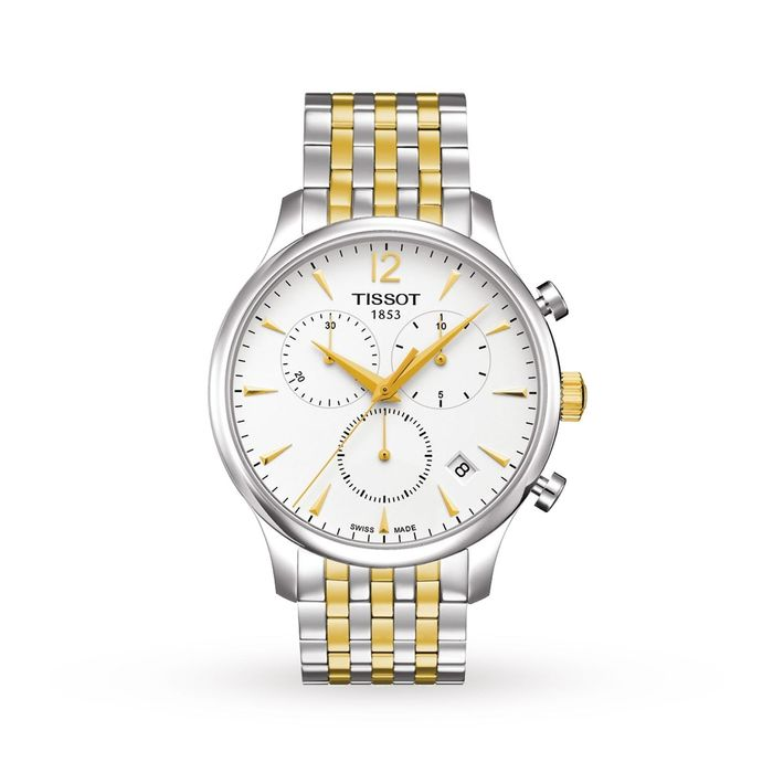 Tissot - Chronograph T-Classic Tradition Collection Two Tone IP Gold & Steel Sapphire Crystal Swiss Made - T0636172203700 - Hombre - Brand New