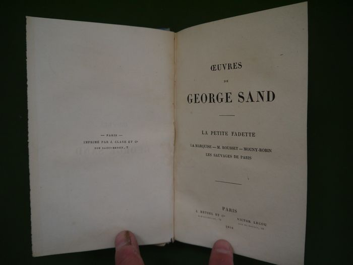 George Sand - Oeuvres - 1852
