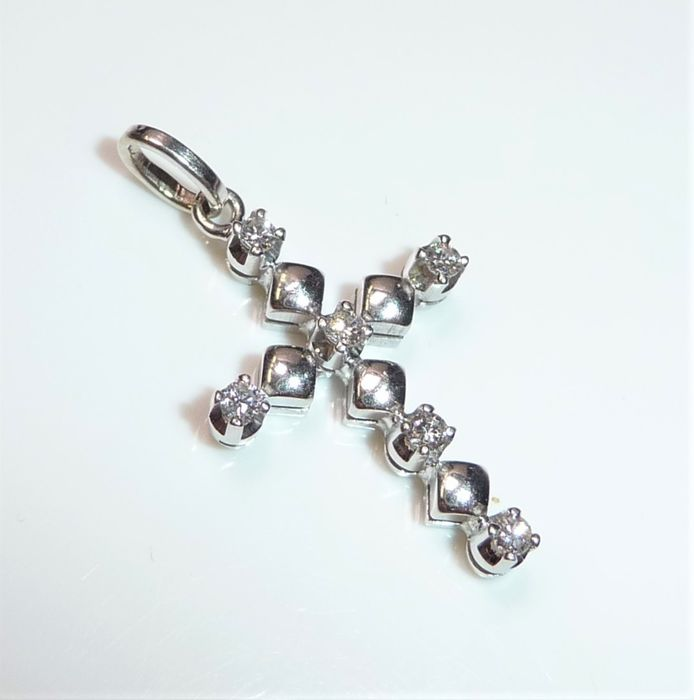 18 karaat Witgoud - Hanger - 0.20 ct diamant