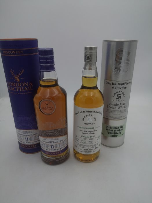 Glenrothes 11 years old Gordon Macphail - Glenrothes 1997 Signatory - 70cl - 2 bottles