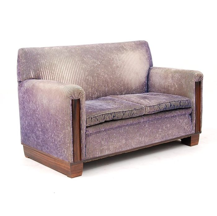 Art Deco 2-seater sofa with rosewood