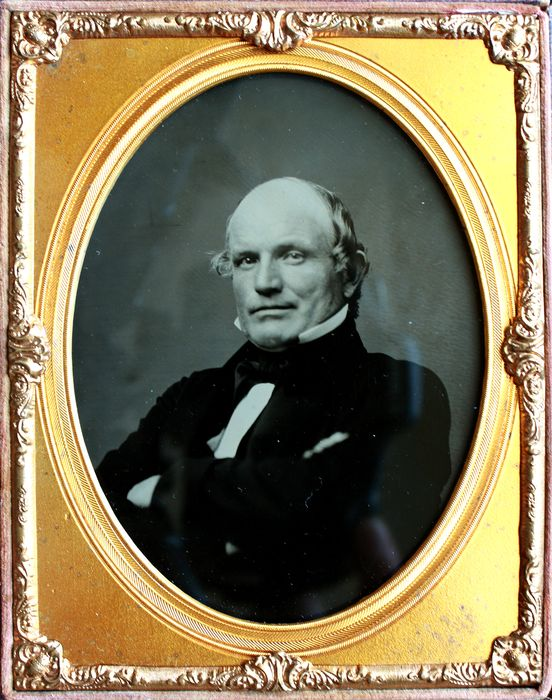 Unknown - Large half plate ambrotype of a distinguished gentleman ca.1860