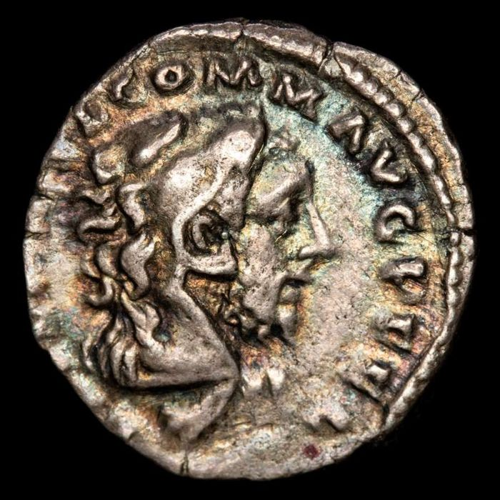 Römisches Reich - AR Denarius, Commodus (180-192 AD) - HERCVLI ROMANO AVG, four lines separated by a club. Scarce. - Silber