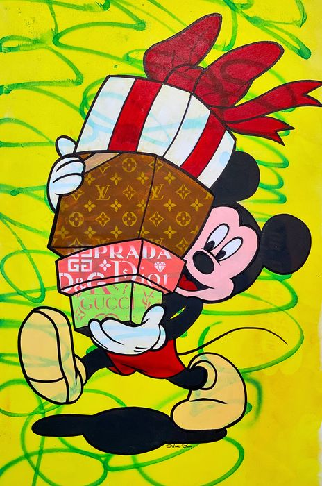 Dillon Boy - Mickey Mouse with Gifts / Louie Vuitton, Prada, Gucci