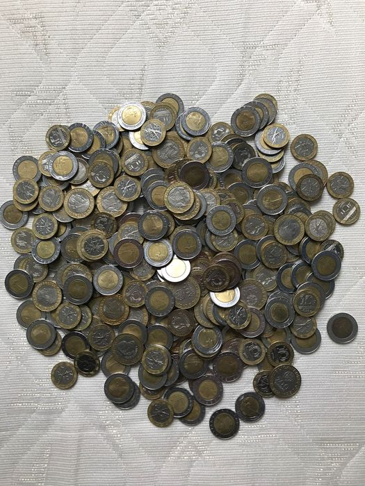 World - 2,392 kg of Bi-Metal Coins  1970-2000