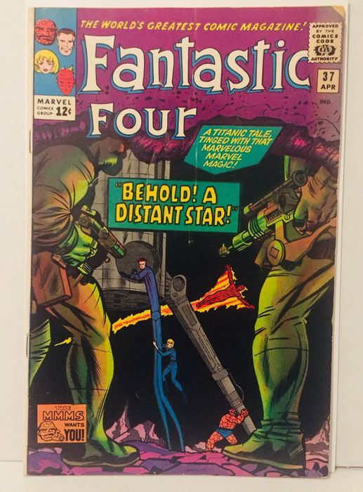 "Fantastic Four #37 - Higher Grade - ""Behold! a Distant Star!"" - Softcover - Eerste druk - (1965)"