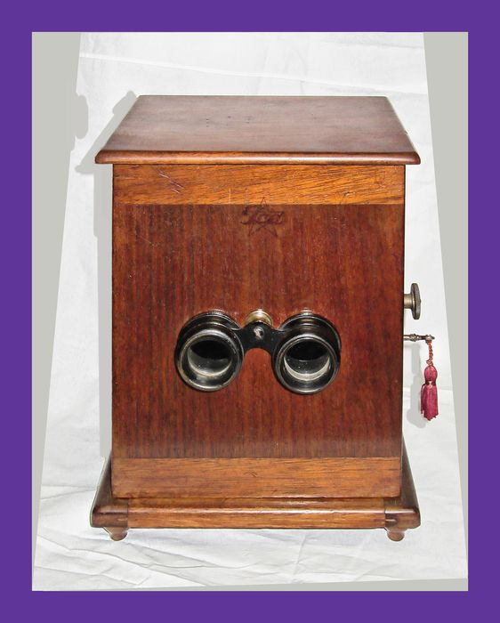 ICA Stereospekt 6x13, wooden stereo viewer + accessories