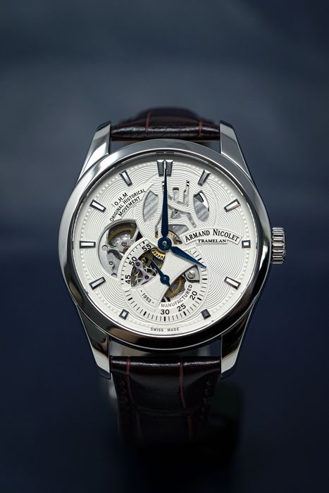 """Armand Nicolet - L16 O.H.M. Limited Edition Silver """"NO RESERVE PRICE"""" - A132AAA-AG-P840MR2 - Men - Brand New"""