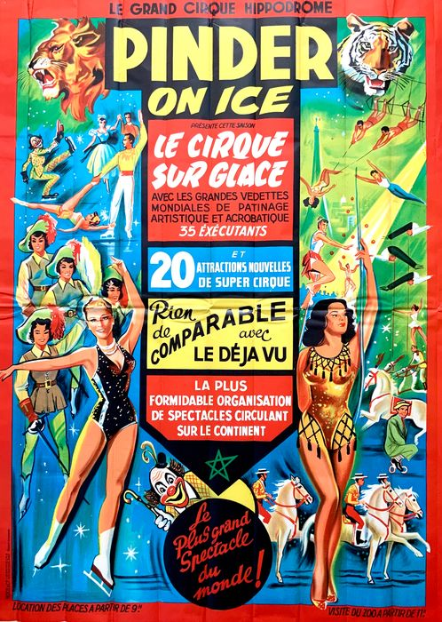 Anonymous - Cirque Pinder on Ice Circus Poster - Anni '60