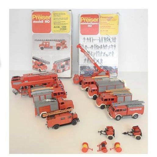 Preiser, Roco H0 - Scenery, Fire fighting vehicles