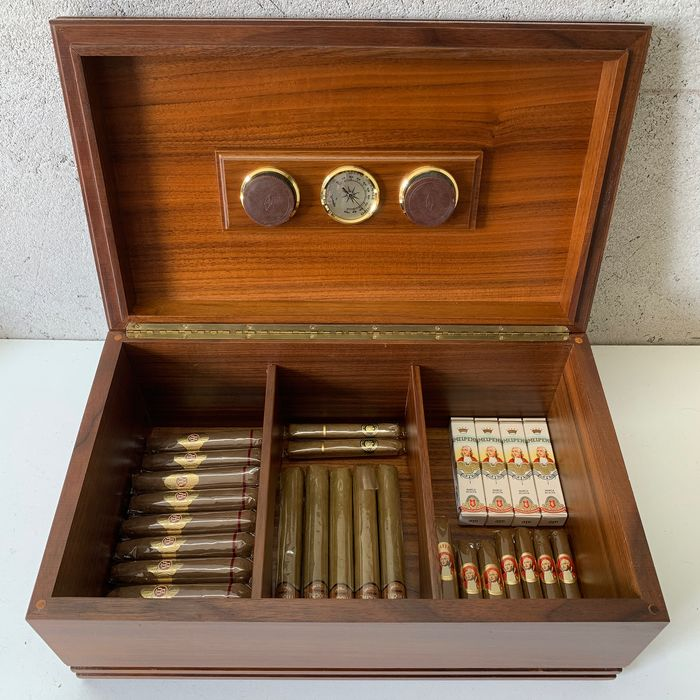 Savinelli - Large Cabinet Humidor with 3 Compartments