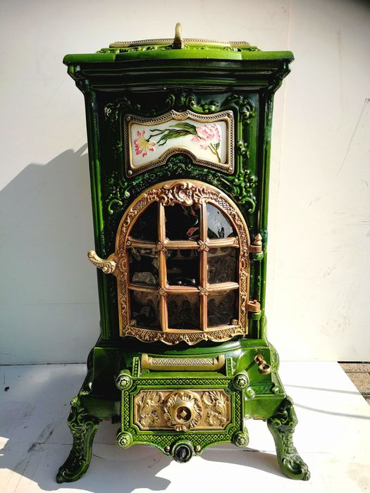 Wood stove, Sougland - Iron (cast/wrought) - late 19th century