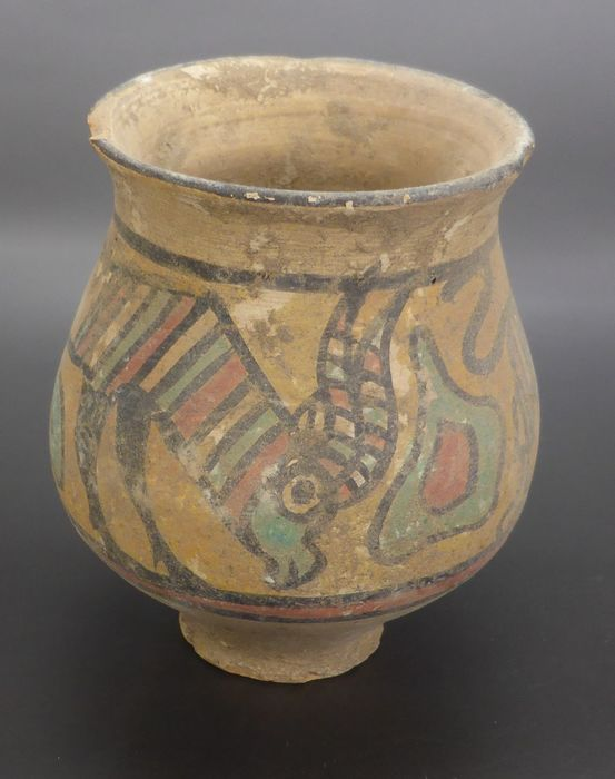 Indus Valley Terracotta painted animal pot - 30×55×77 mm