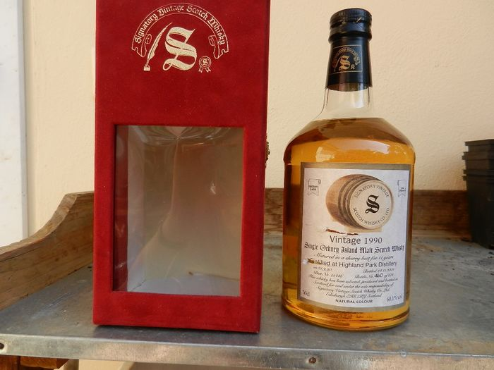 Highland Park 1990 11 years old Cask strength sherry butt - Signatory Vintage - b. 2001 - 70 cl