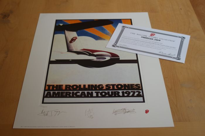Rolling Stones - Limited Edition Lithograph - America 1972 - Original Lithograph - 1994/1994