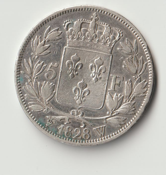 France - Charles X - 5 Francs 1828-W (Lille) - Silver