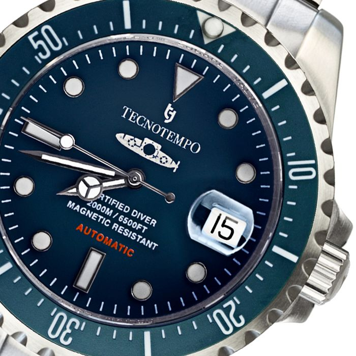 "Tecnotempo -  ""NO RESERVE PRICE"" 2000M / 6500FT ""Born For Depths"" - LIMITED EDITION 50PCS - TT.2000.SB (Blue) - Herren - 2020"