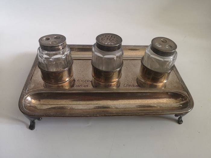Inkwell - .925 silver - London - England - 1792