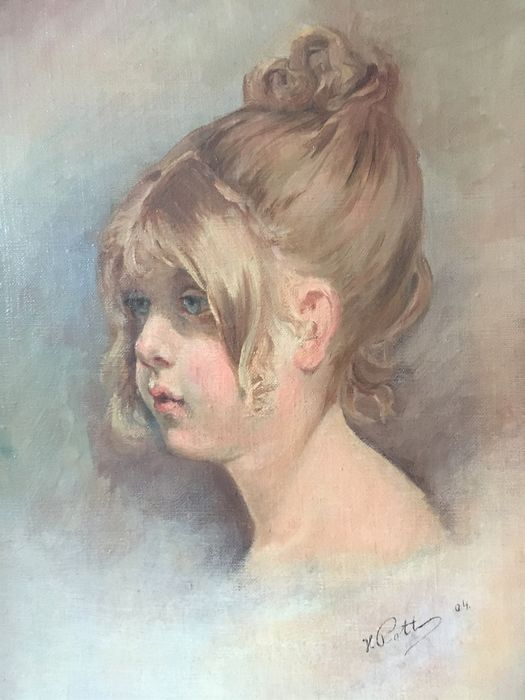 H Pott - Portrait of a young girl