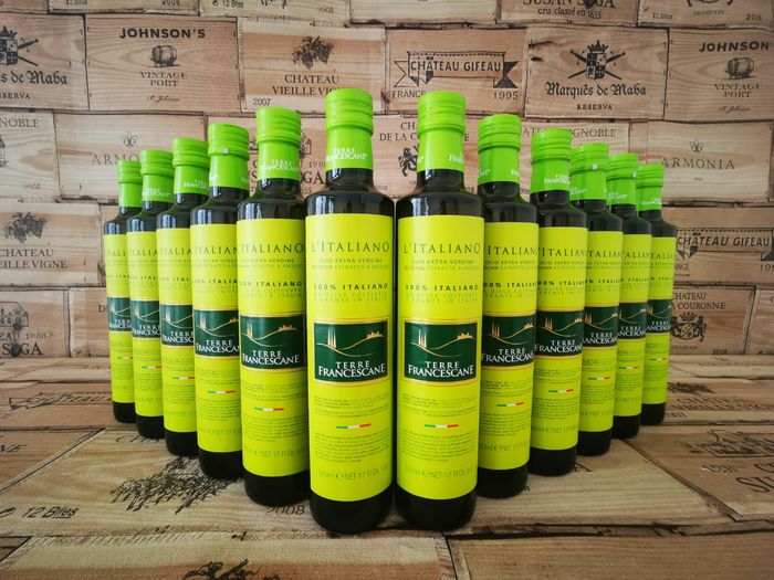 L'italiano, Terre Francescane - Extra virgin olive oil - 12 - 500 ml