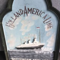 Holland-America Line - Advertising board - Wood