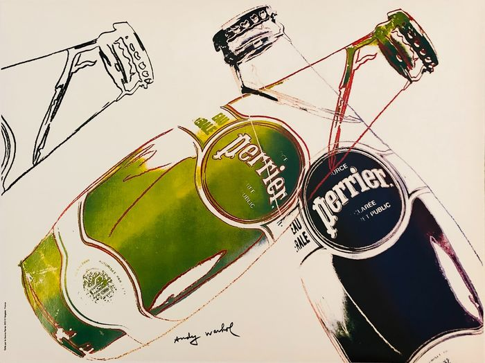 Andy Warhol (after) - SOURCE PERRIER EAU NATURELLE - Anni '80