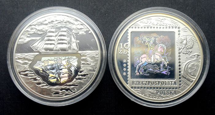 Poland - 10 Zlotych 2007/2008 Holographic (2 coins) - Silver