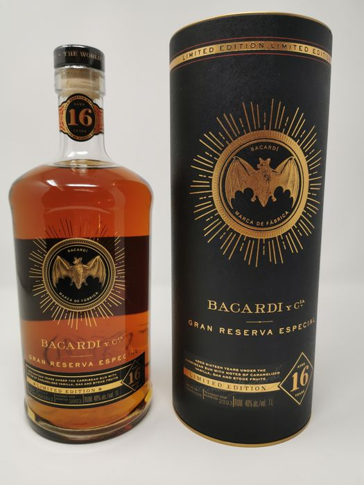Bacardi 16 years old - Limited Edition Gran Reserva Especial Travel Retail Exclusive - 1.0 Litre