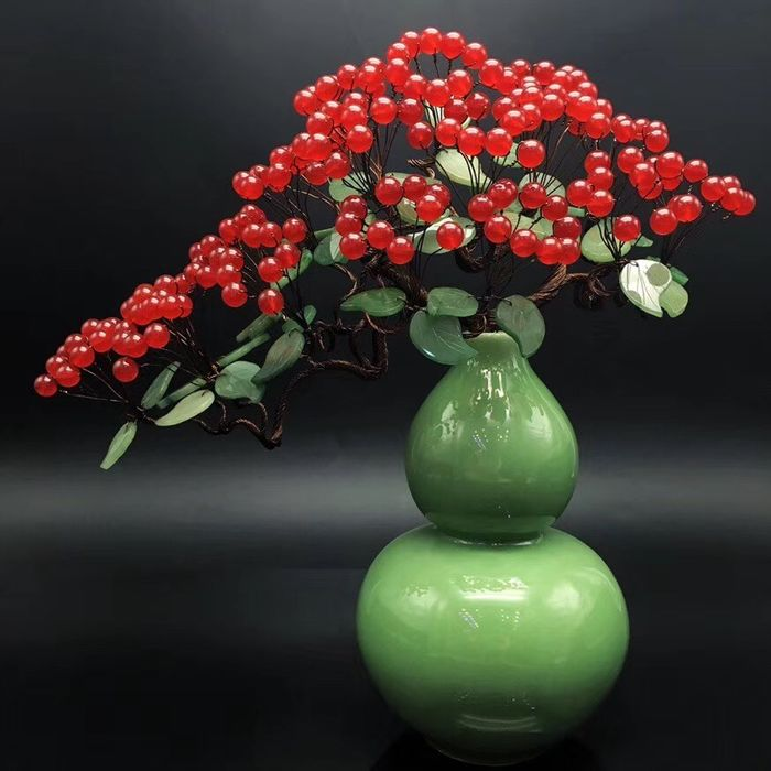 Natural handmade red chalcedony Crystal Rich Money Tree Crystal - 280×250×60 mm - 2000 g
