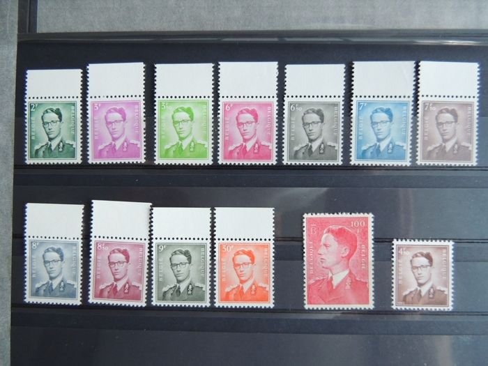 Belgium 1958 - Marchand type, complete series - OBP / COB 1066/1075 - 1068A