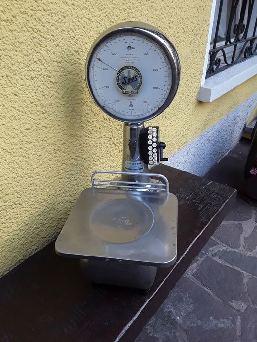 Spes brand butcher scale, functional but to be calibrated (1) - Steel