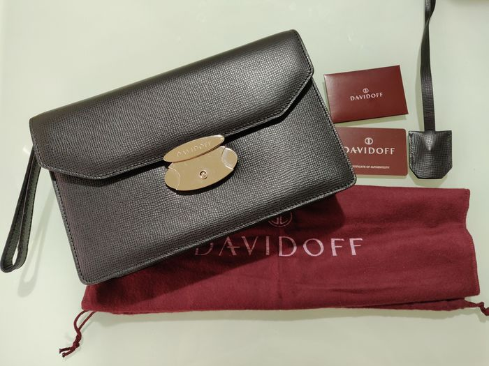 Zino Davidoff - Leather Clutch - Made in Italy Clutch bag
