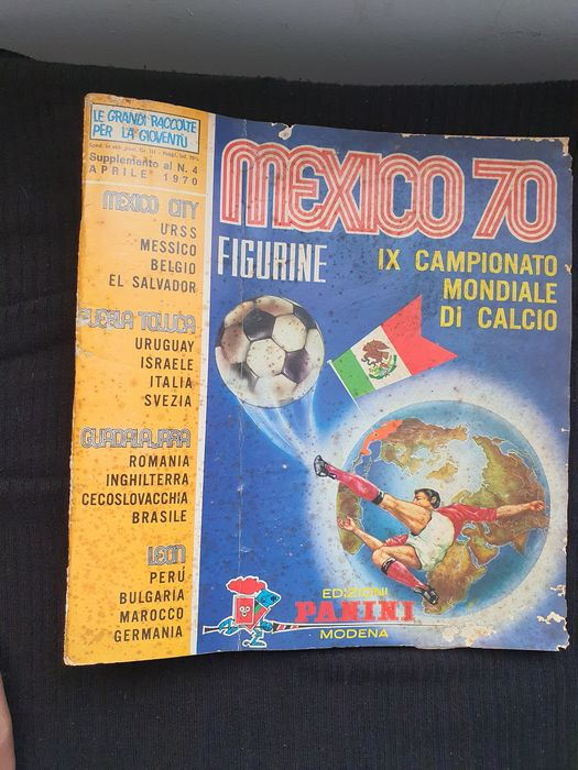 Panini - World Cup Mexico 70 - Niekompletny album - 1970