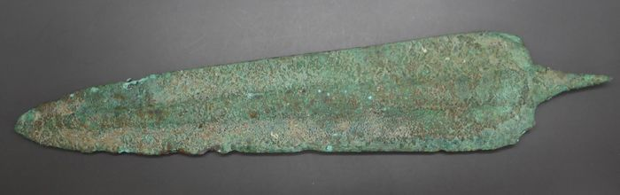 Luristan Bronze broad spear head - 7×40×200 mm